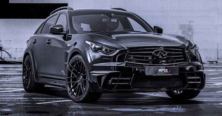 Black Qx70 >> AHG-Sports' Menacing Infiniti QX70 LR3-Wide Body