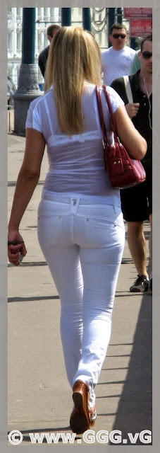 Women wear white pants