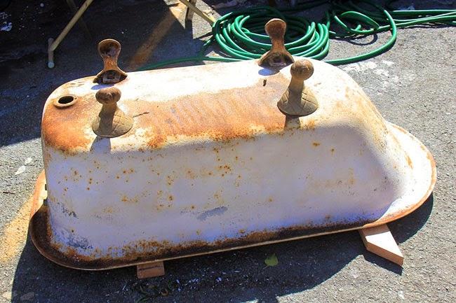 Bañera de pie reciclada