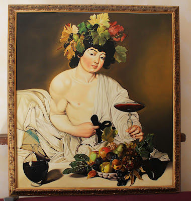 Bacchus (Caravaggio) - oil painting reproduction by Marcello Barenghi