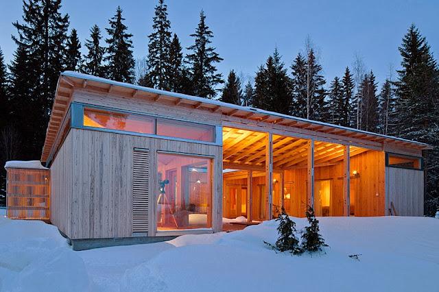 Casa de madera en finlandia espacios en madera - Casas de madera nordicas ...