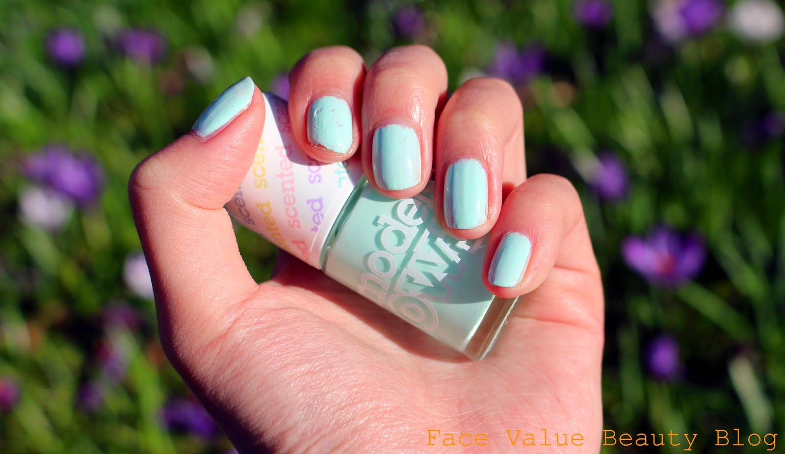models own scented nail polish apple pie makeup review