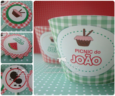 wrappers toppers personalizados festa picnic