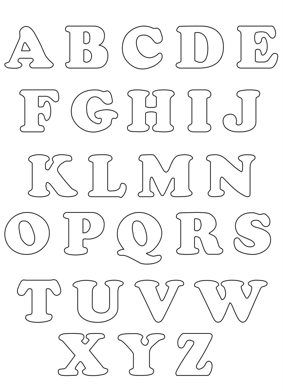 moldes de letras | Moldes