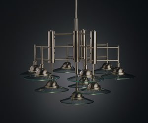 Kichler 2042NI Galaxie 10 Light Chandelier Brushed Nickel