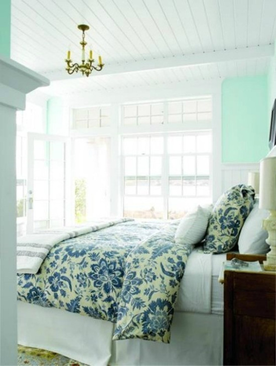Belle maison color love mint green for Mint green bedroom ideas