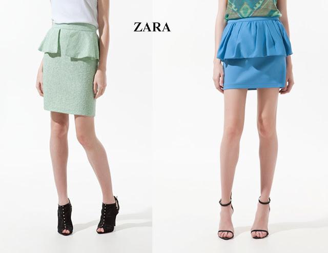 Faldas peplum Zara