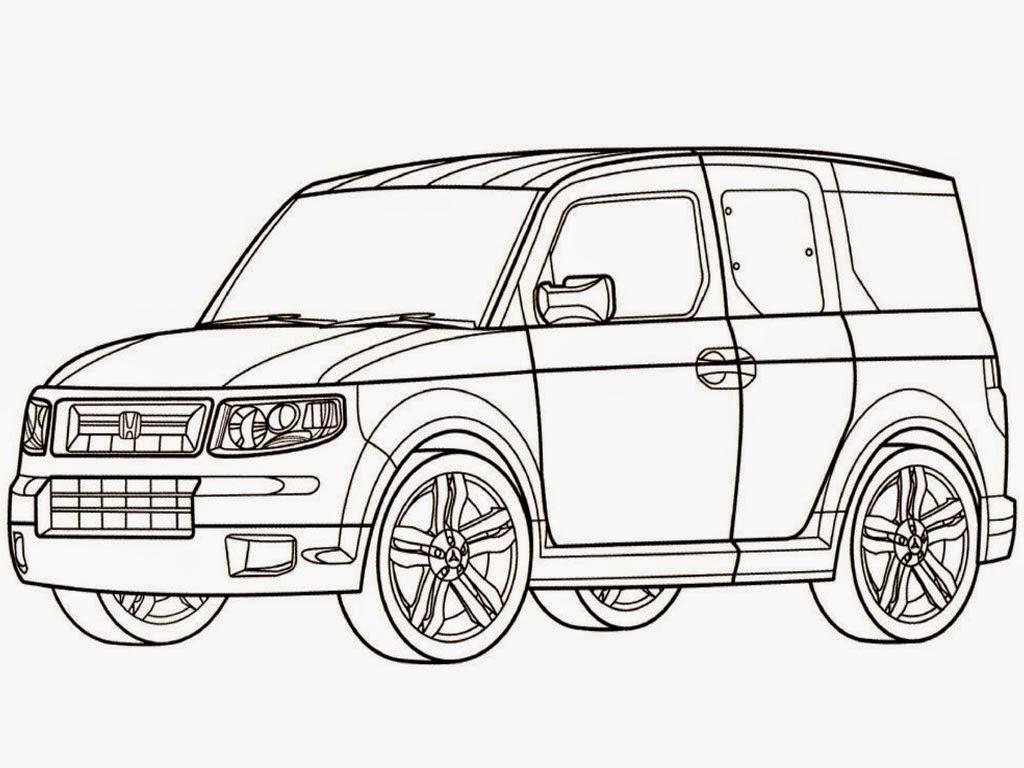 Realistic Car Coloring Pages : New honda crv car coloring pages realistic