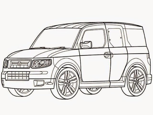 New Honda CRV Car Coloring Pages