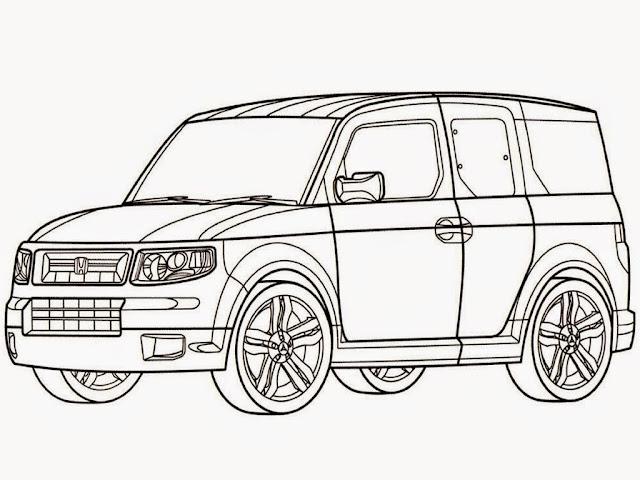new honda crv car coloring pages