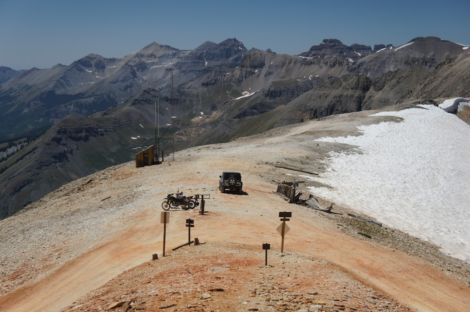 Mountains Rule Sunny Day For Imogene Pass