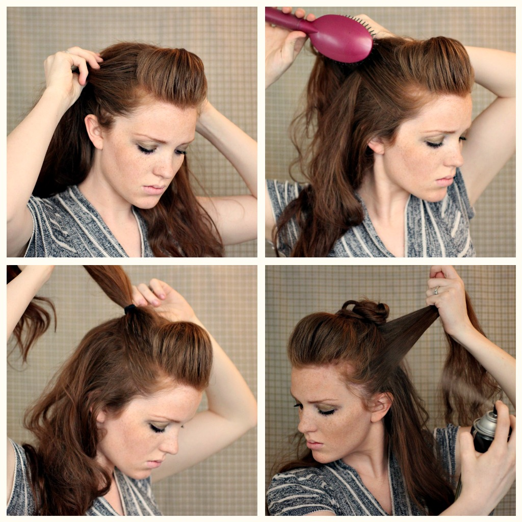 The Freckled Fox Hair Tutorial Posh Faux Hawk