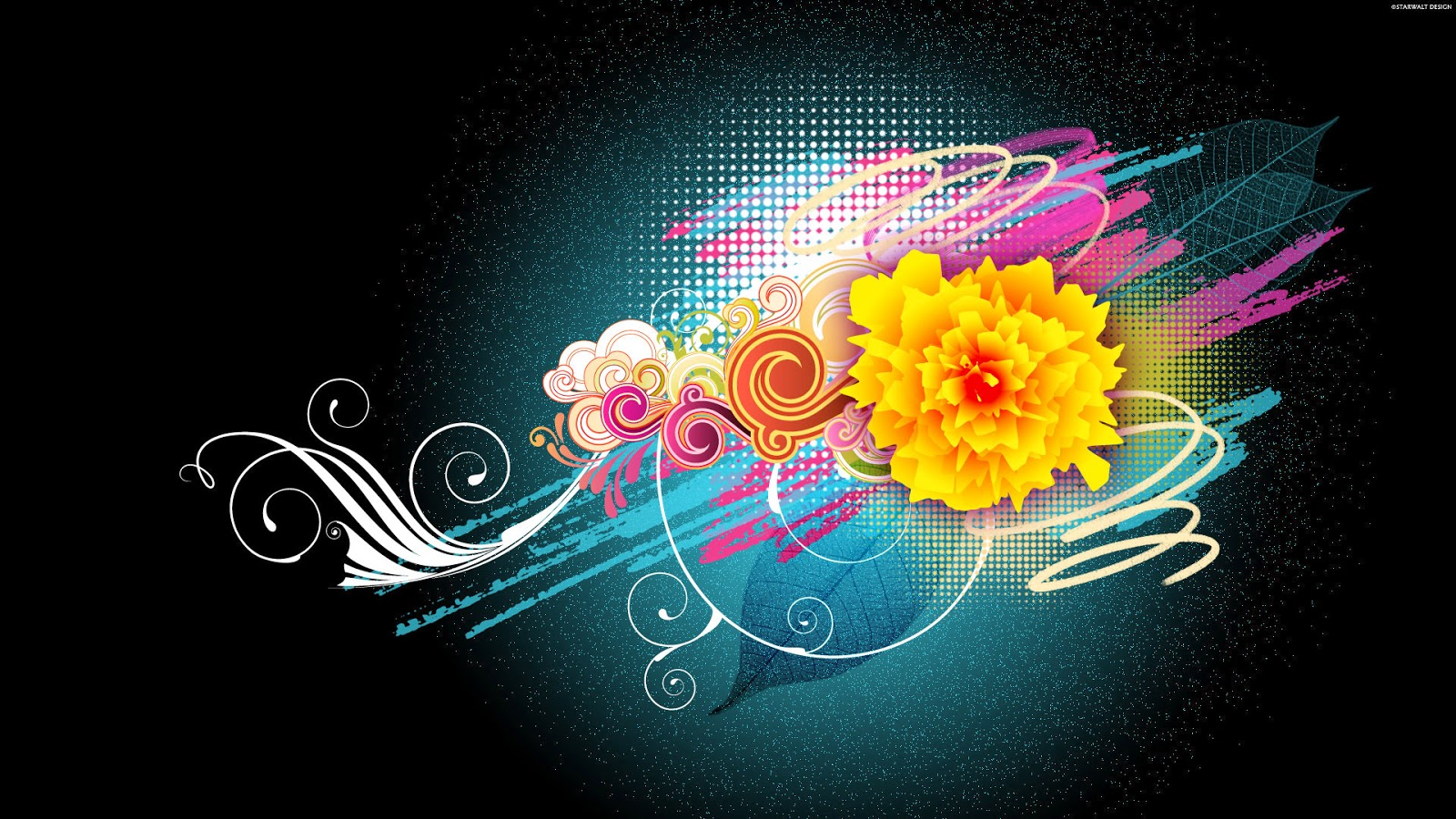High Resolution Flower Themes Background Frame Abstract