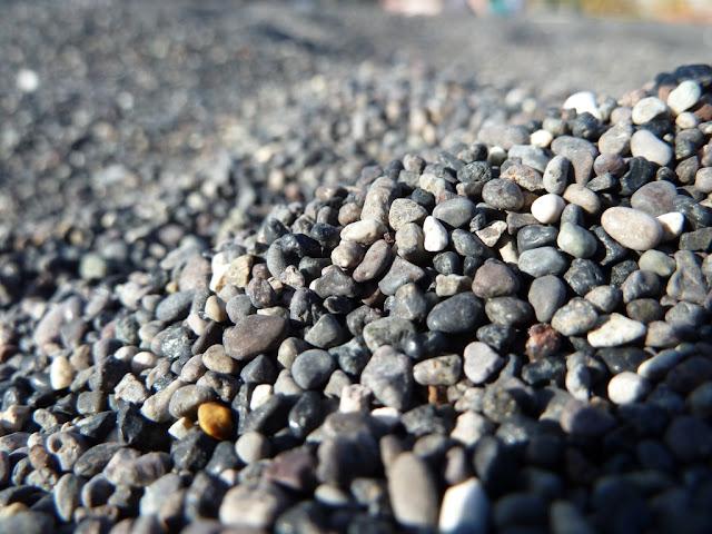 Santorin - plage de Perissa