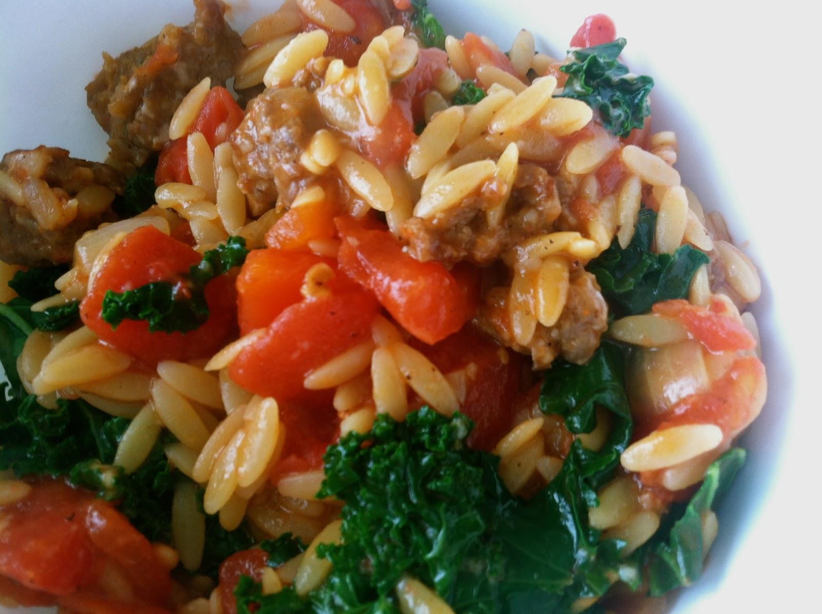 Harvesting Hart: Tomato Sausage Risotto Recipe