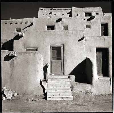 Taos Pueblo - Black and White Photography