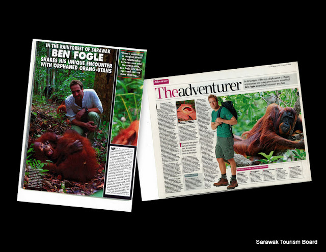 Collage of media article of Ben's experience in Hello Magazine and The Telegraph Travel section