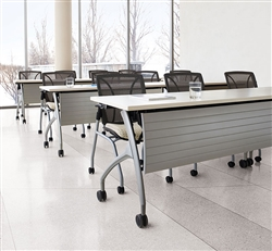 Global Total Office 2gether Tables and Roma Chairs