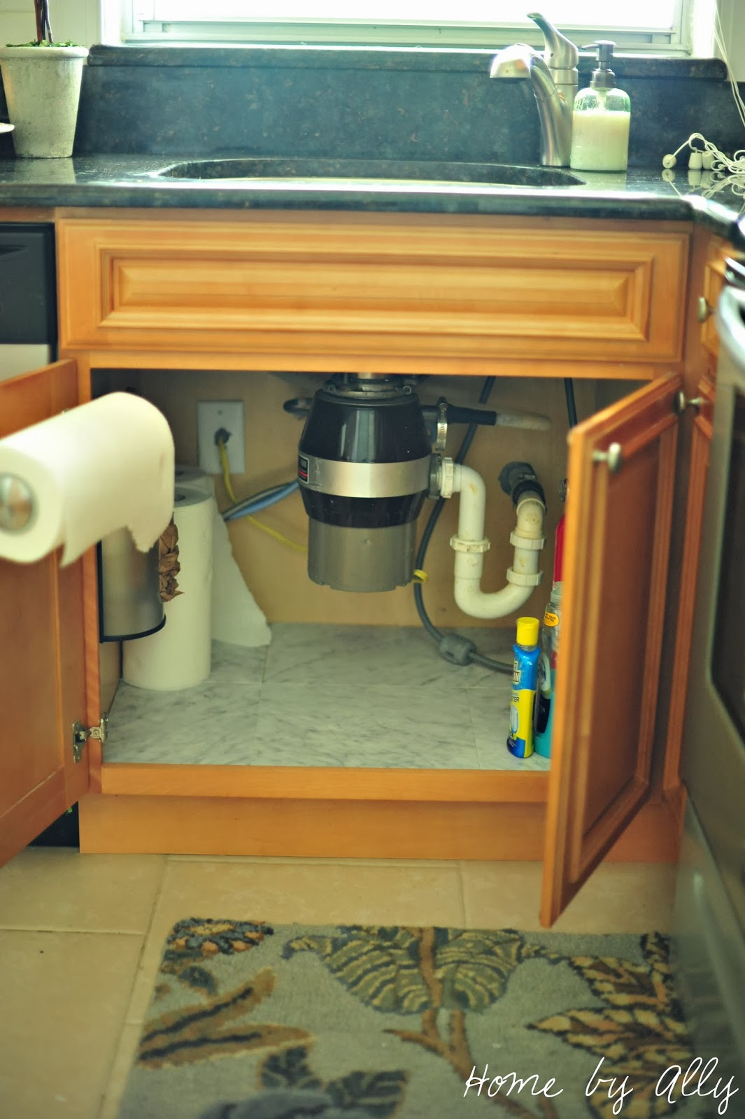 Home By Ally Diy Under Sink Tile And How To Keep It