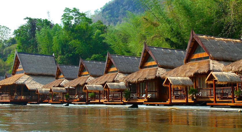 Thailand Kanchanaburi The FloatHouse River Kwai
