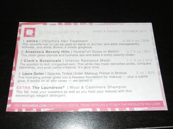 Birchbox Review: October 2011