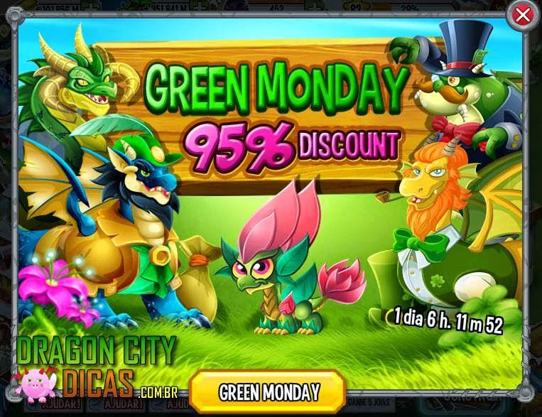 Segunda-Feira Verde no Dragon City