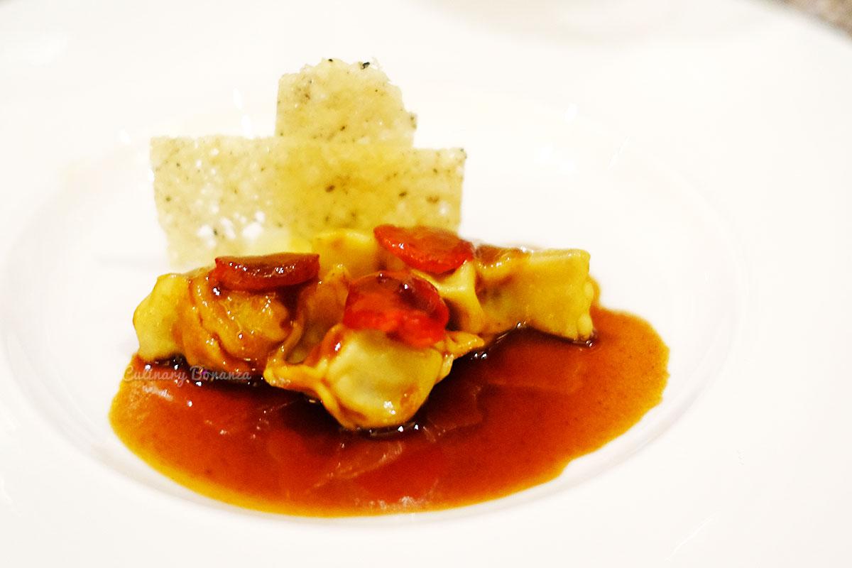 Agnolotti; Smoked Sweet Pepper Beef Sausage Filling (www.culinarybonanza.com)