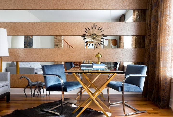 Mirror panels for walls - glamorous interior