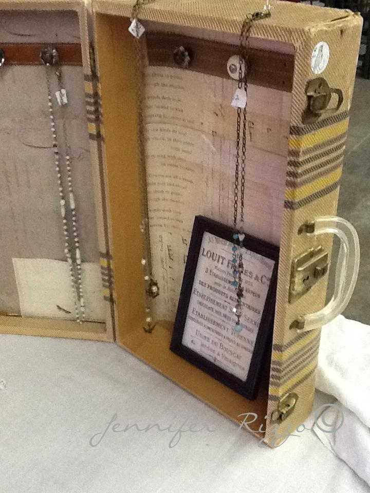 A vintage suitcase made into a jewelry holder.... - Jennifer Rizzo