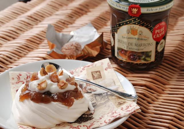 recette dessert meringue creme de marron