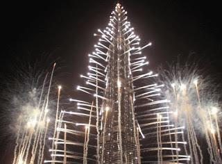 New Year 2012 Eve in Dubai Celebrations, United Arab Emirates, the Burj Khalifa Skyscraper Fireworks -Travel Europe Guide
