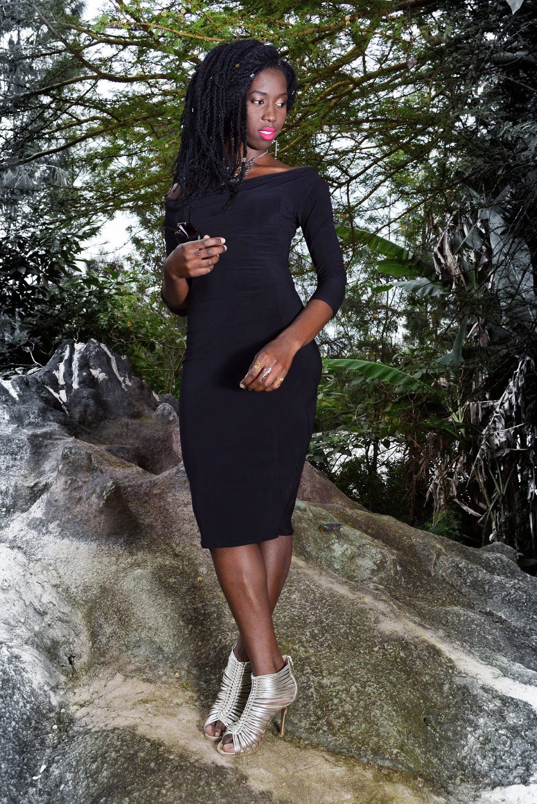 little black dress, draped neck dress, black drapped neck dress, sleeved dresses, what to wear to a date, simple outfits, african fashion blogger, kenyan fashion blogger, silver and black outfits, ezil boutique, style with ezil, ezil