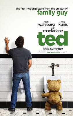 ted, mark wahlberg, teddy bear, movie poster