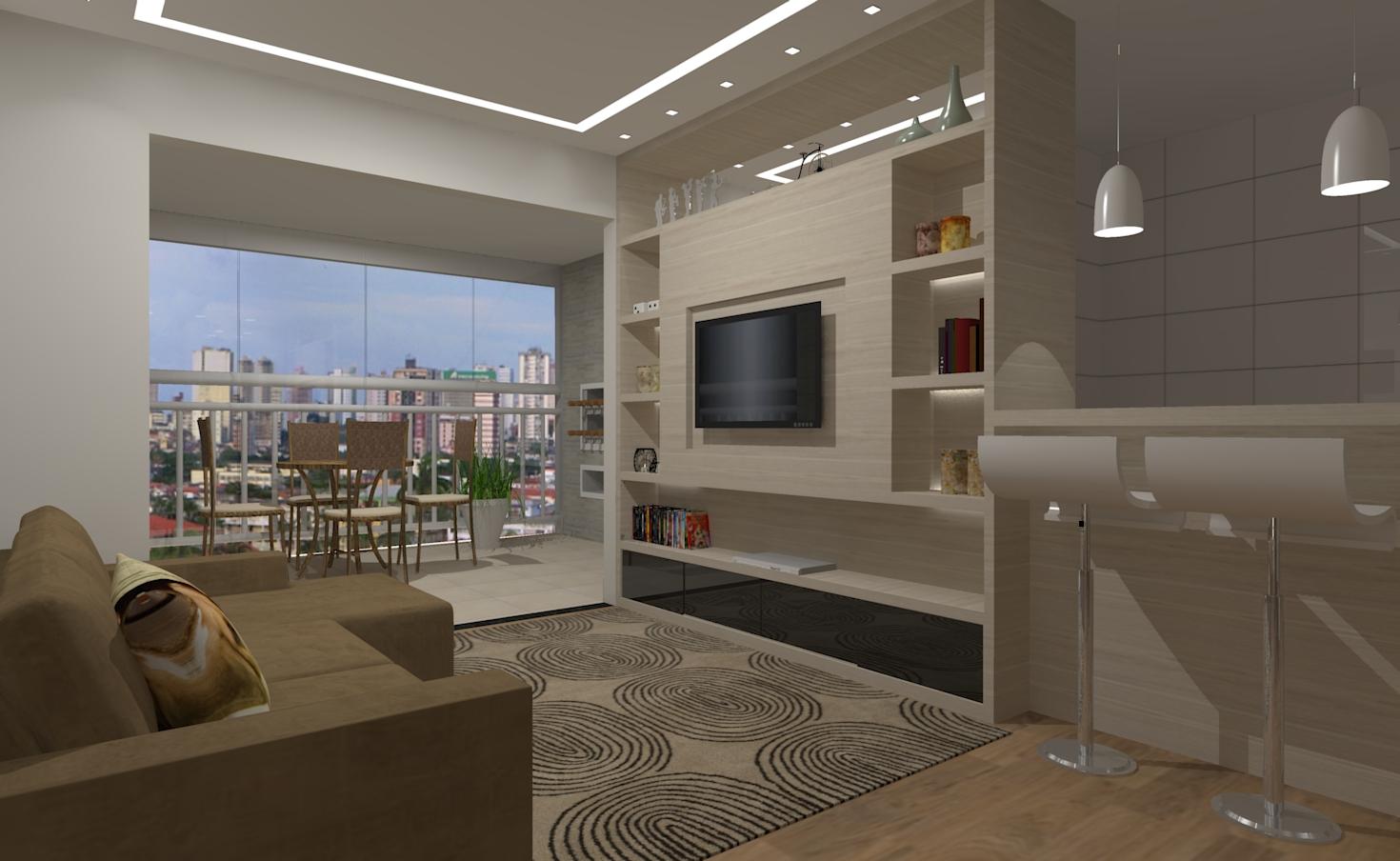 Salas integradas Seu Sonho Desenhado #465D85 1470 904