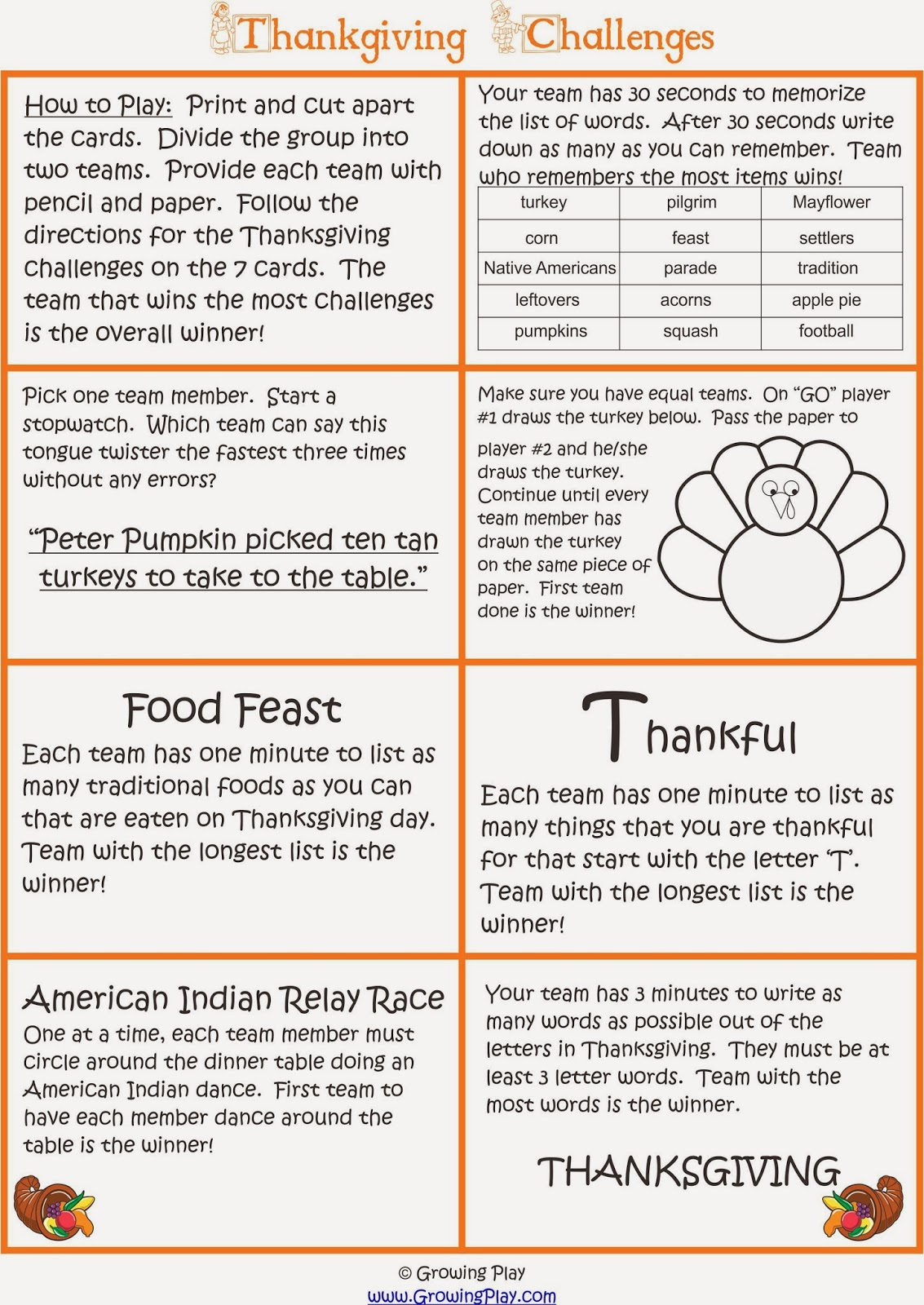 growing play thanksgiving challenge game since we are not heading out for thanksgiving dinner until later this year i created a simple group game for us to play in the morning to help celebrate