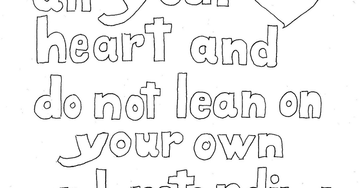 trusting others coloring pages - photo#34