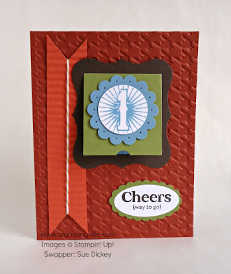 Peekaboo Blue Ribbon Card