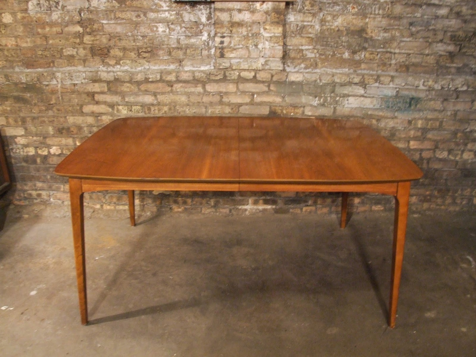 mid century chicago danish modern butterfly leaf dining table