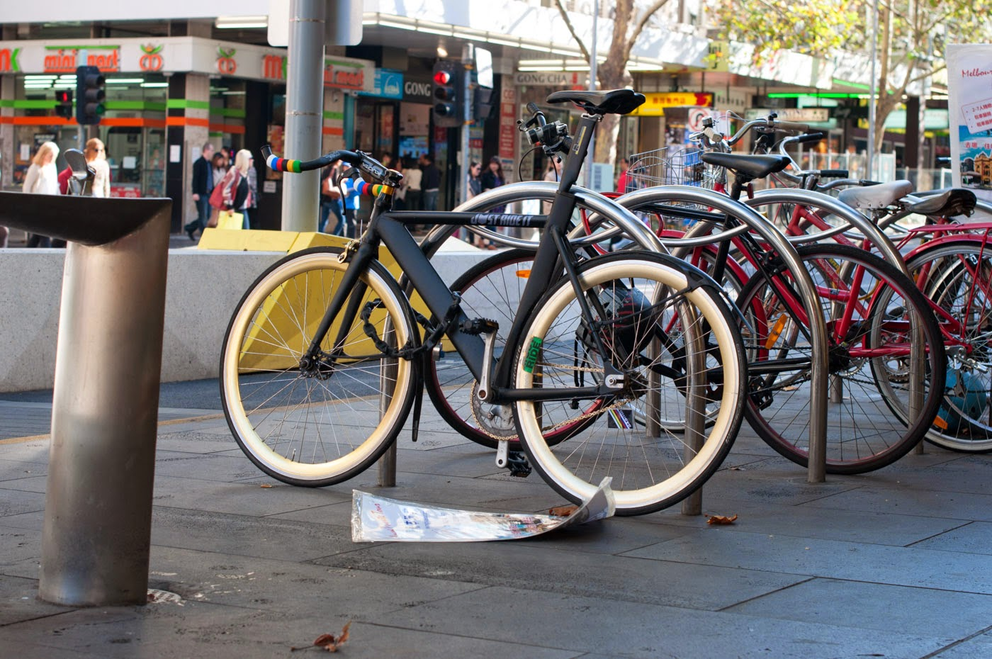 just ride it,  frame, custom, customisation, bespoke,  mucyc,  tim macauley, the biketorialist, deda,  dia compe,  fixed speed,  bicycle, swanston st, Melbourne, Australia, fixie
