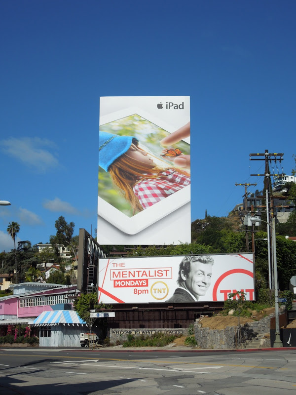 Giant iPad billboard