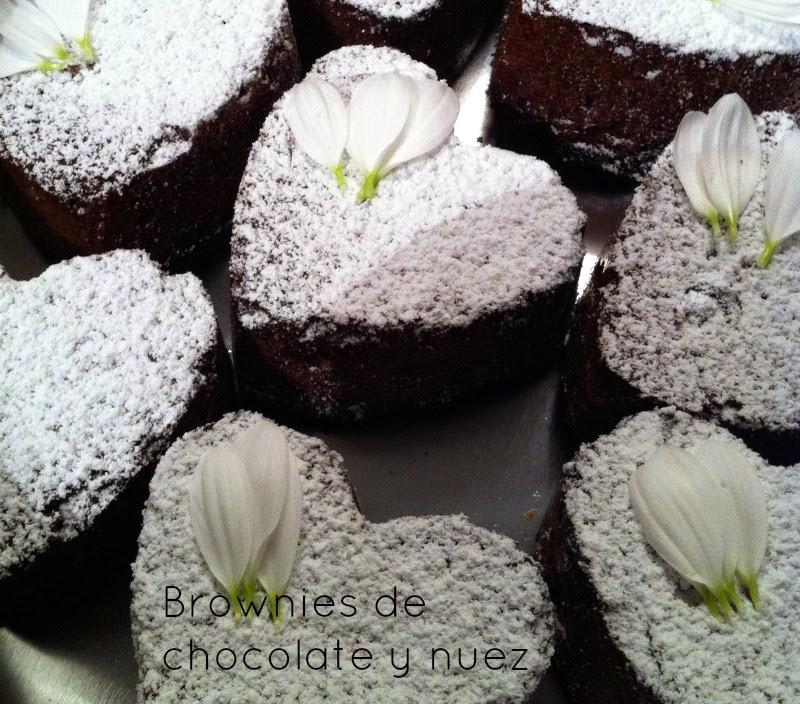 Brownies de chocolate y nuez