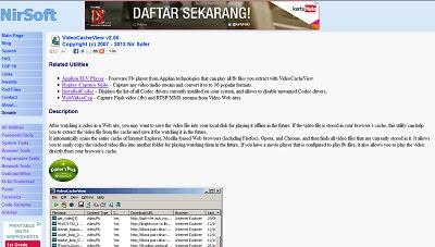 VideoCacheView, Video Downloader / Searcher