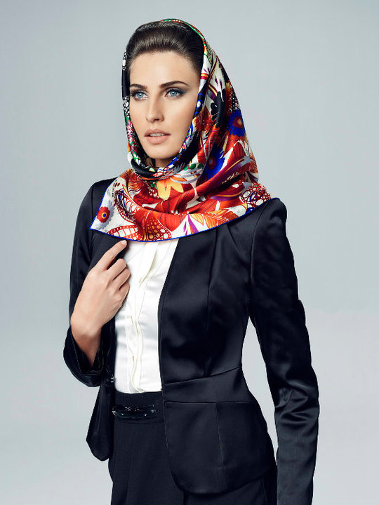 beautiful women with silk head scarves Head Scarves For Bald Women