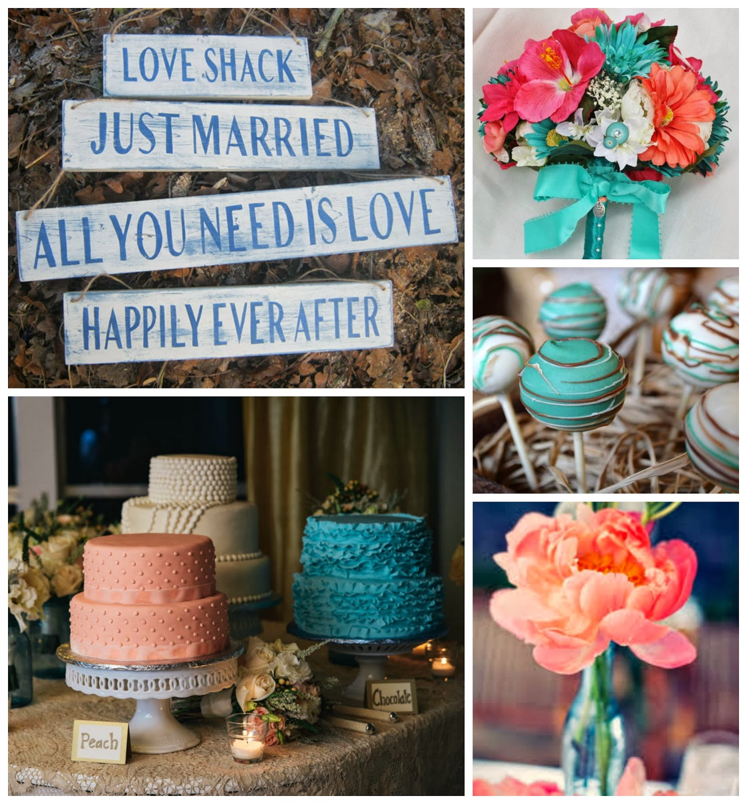 Rustic Peach & Teal Wedding Ideas