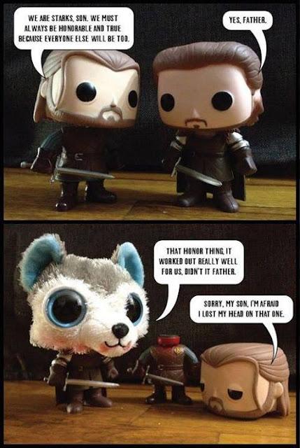 Stark honorables muñquitos funko pop - Juego de Tronos en los siete reinos