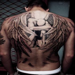 wings tattoo for men great tattoos. Black Bedroom Furniture Sets. Home Design Ideas