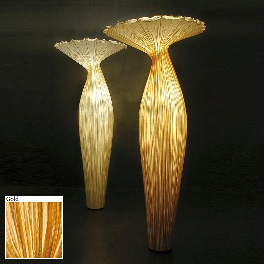 Darya girina interior design march 2015 - Aqua Creations Morning Glory Floor Lamp In Gold