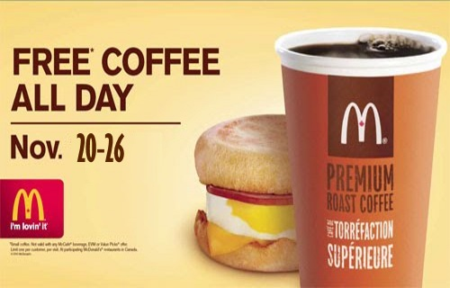 Mcdonalds Free Small Coffee