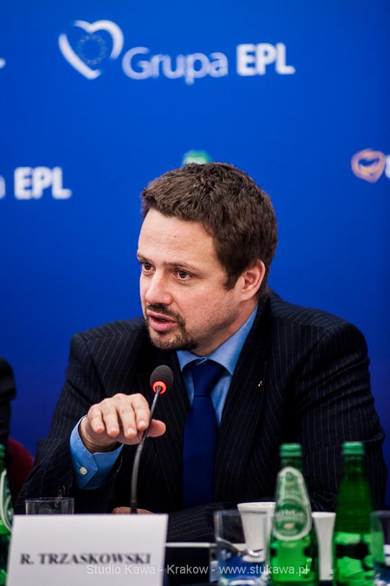 Konferencja EPP/EPL w Krakowie. Event, obsluga fotograficzna, nz. Rafał Trzaskowski