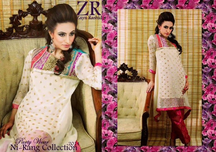Latest Party Wear Spring 2014 Collection By Zayn Rashid-06